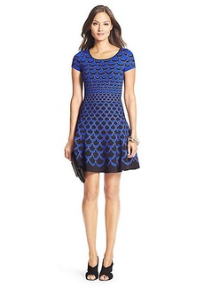 DVF Alina Knit Fit and Flare Dress
