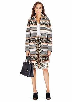 DVF Allena Jacquard Coat