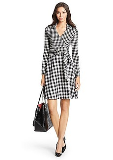 DVF Amelianna Flared Silk Combo Wrap Dress