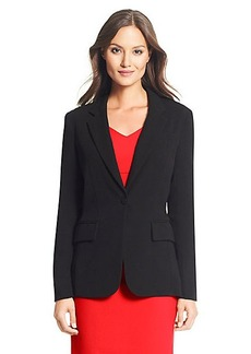 DVF Andry Relaxed Stretch Crepe Blazer