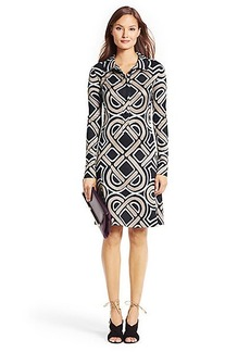 DVF Anna Love Knot Shirt Dress