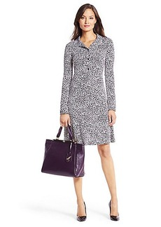 DVF Anna Silk Jersey Shirt Dress