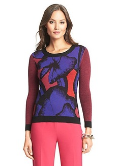 DVF April Printed Wool Sweater
