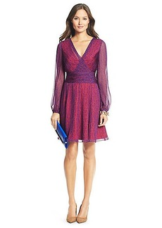 DVF Ashlynn Printed Chiffon A-Line Dress