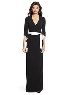 DVF Aurora Long Wrap Dress