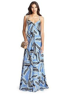 DVF Barths Silk Maxi Dress