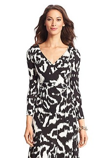 DVF Behati Silk Jersey Wrap Top