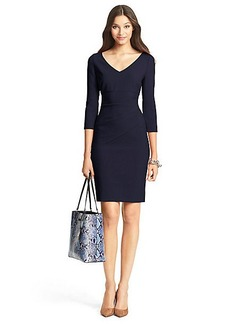 DVF Bevin Sleeved Ceramic Sheath Dress