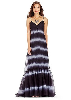 DVF Brianna Tie Dye Silk Maxi Dress