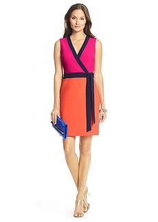 DVF Gracie Colorblock Ceramic Wrap Dress