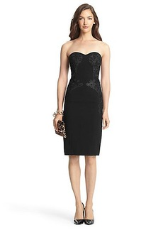 DVF Isabella Strapless Lace Detail Dress