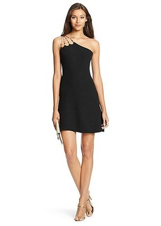 DVF Jaslene Beaded One Shoulder Dress