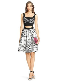 DVF Jayme Cut Out Embellished Dress