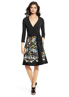 DVF Jewel Pleated Wrap Dress