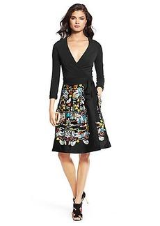 DVF Jewel Pleated Wrap Dress