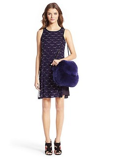 DVF Jocelyn Embellished Shift Dress