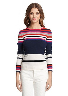 DVF Jolanta Striped Cashmere Sweater