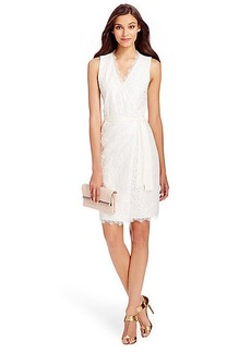 DVF Julianna Two Metallic Lace Wrap Dress