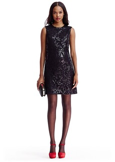 DVF Kaleb Embellished Lace Shift Dress