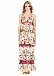 DVF Karen Tiered Chiffon Gown