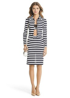 DVF Lacie Striped Knit Jacket