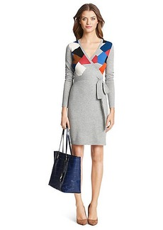 DVF Leandra Sweater Wrap Dress