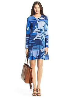 DVF Leanne Flirty Silk Tunic Dress
