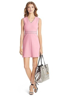 DVF Leelou Trim Detail Shift Dress