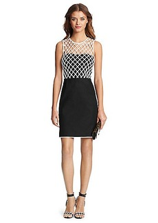 DVF Leonora Mesh Detail Dress