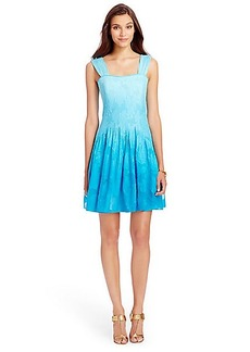 DVF Lesly Ombre Pleated Chiffon Dress