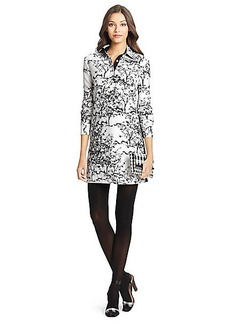 DVF London Embellished Silk Wool Tunic Dress