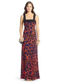 DVF Lourosa Silk Jersey Maxi Dress