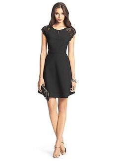 DVF Maddie Lace Detail Dress