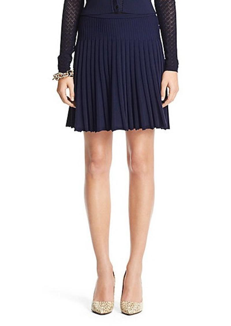 diane furstenberg dvf mara pleated knit skirt skirts