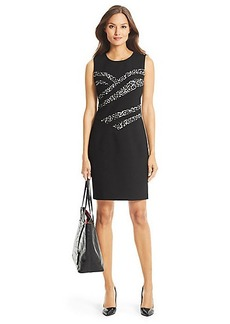 DVF Marcia Leopard Detail Sheath Dress