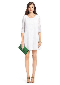 DVF Martina Geometric Lace Shift Dress