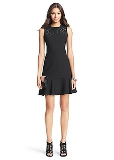 DVF Maureen Cut Out Flirty Shift Dress