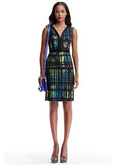 DVF Melrose Jacquard Sheath Dress