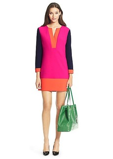 DVF Millie Colorblock Ceramic Tunic Dress