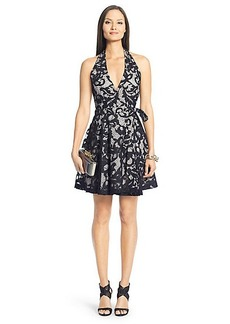 DVF New Amelia Lace Halter Dress