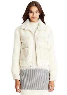 DVF Plush Bomber Wool Jacket