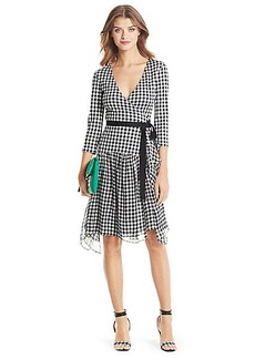 DVF Riviera Jersey and Chiffon Combo Wrap Dress