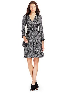 DVF Rosie Leather Detail Wrap Dress