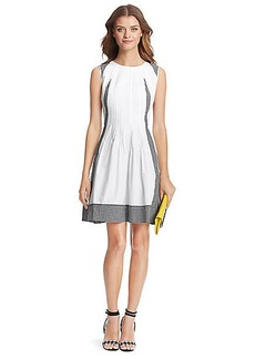 DVF Samella Cotton A-Line Dress