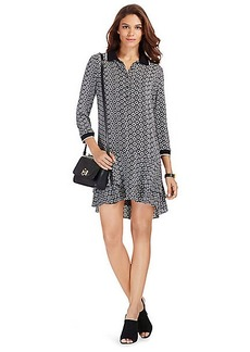 DVF Samuella Mini Silk Shirt Dress
