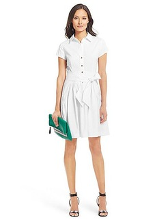 DVF Scarlet Pleated Cotton Shirt Dress