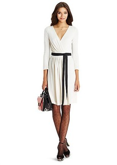 DVF Seduction Wool and Lace Wrap Dress
