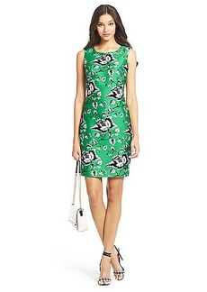 DVF Sofia Silk Wool Shift Dress