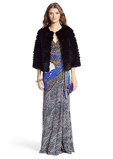 DVF Sonia Silk Jersey Maxi Gown