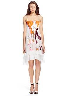 DVF Sybil Ruffle Chiffon Dress